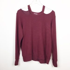 LNA   Super Soft Brushed Cutout Sweatshirt